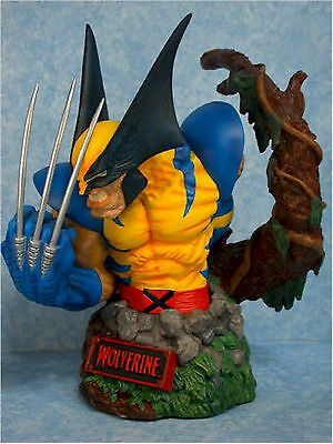 MARVEL UNIVERSE WOLVERINE BUST Statue ART ASYLUM ELI LIVINGSTON X-MEN Movie TOY