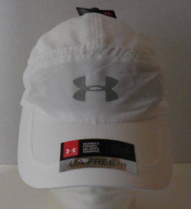 43714214 Details about UNDER ARMOUR Women's UA Free Fit 2.0 Running Hat/Cap Color  White Size OSFM