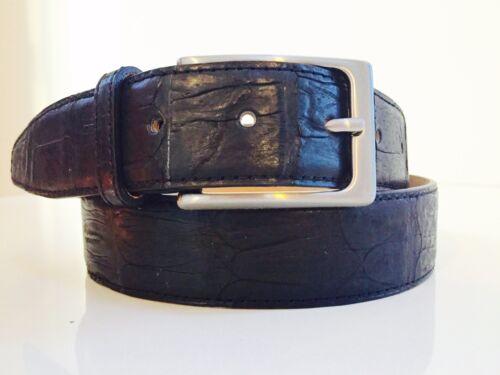 NEW REAL GENUINE CROCODILE MENS leather BELT BLACK Size 34 36 40 42 46 MLXL