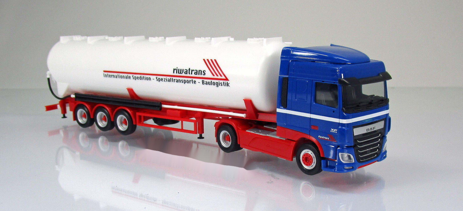 Herpa 306058 DAF XF SC EURO 6 CDR-Silo Semi-remorque camion Riwatrans Scale 1 87 NOUVEAU