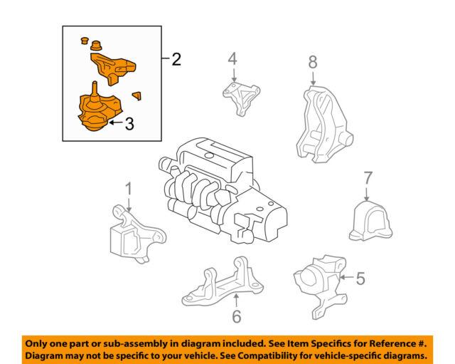 honda oem 04-05 civic-engine motor mount torque strut 50820s6ee02