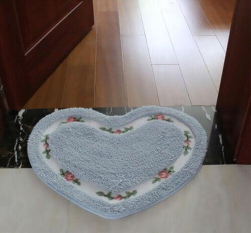 Herz Blumen Fußmatten Fußabtreter Türmatte Haus Teppich Fußboden 45x50cm