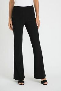 Joseph-Ribkoff-Black-Slip-On-Flared-Pants-163099-NEW