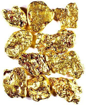 10 PIECE LOT ALASKAN YUKON BC NATURAL PURE GOLD NUGGETS FREE SHIPPING #L251