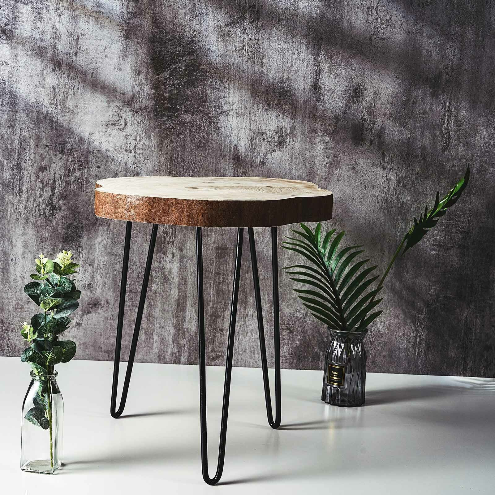 Berkshire Natural Live Edge Wood Round End Table For Sale Online Ebay
