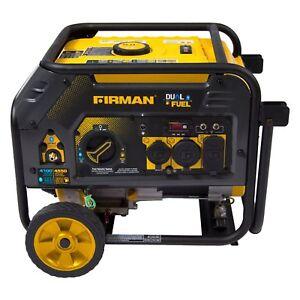 Firman 4,550-W Portable Hybrid Dual Fuel Gas Powered Generator Home Backup RV