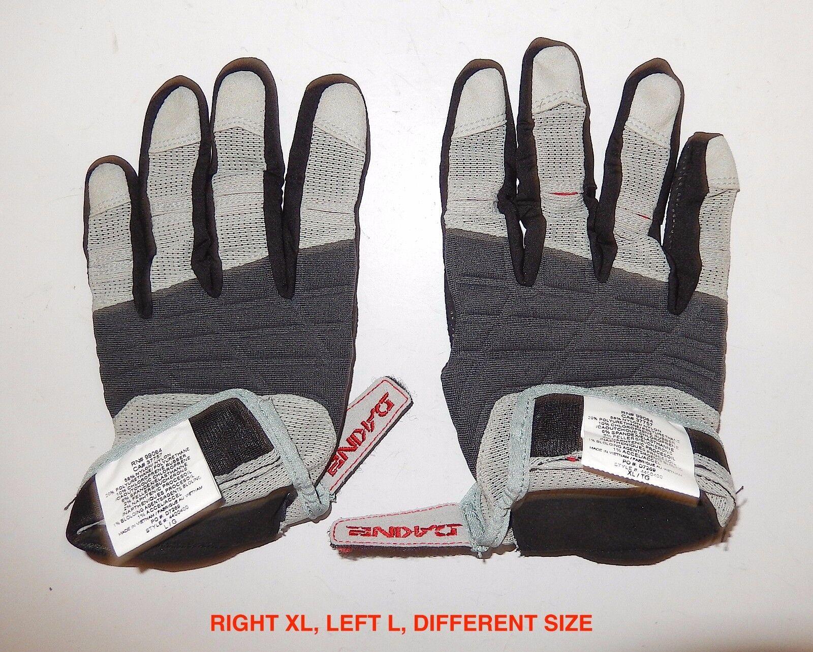 Black LOOK XC Light Team Replica Full Finger Gloves S-XL