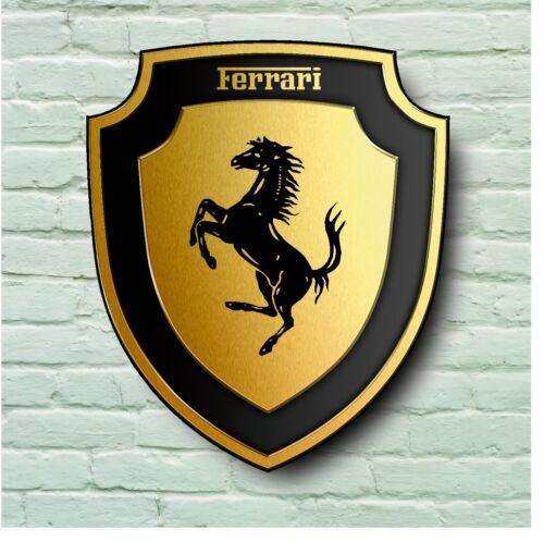 FERRARI LOGO 2FT GARAGE WALL SIGN PLAQUE CLASSIC WORKSHOP SUPERCAR MARANELLO 355
