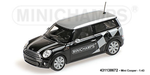 Minichamps 431138672 - Mini Cooper Clubman – 2008 – black Metálico – 1 43