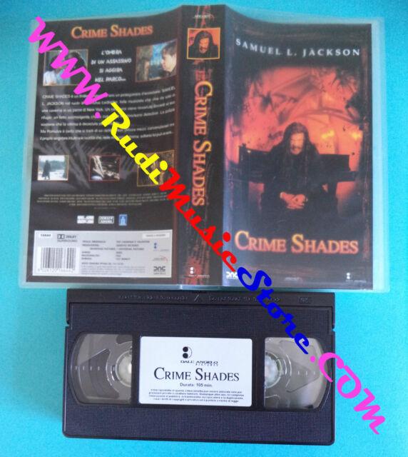 VHS film CRIME SHADES 2003 Samuel L. Jackson DALL'ANGELO 16644 (F25)no dvd