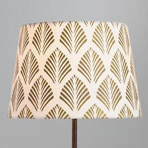 Details About Gold Fern Accent Lamp Shade Decor Cotton Uno Socket Compatible 10 X 6 75