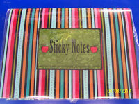 Striped Teacher Sticky Note Set Post It Back To School Gift Stationery Desk Set