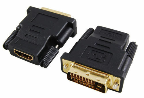 Technotech DVI Male to HDMI Female Converter Adapter 24+1 for HDMI TV LED LCD