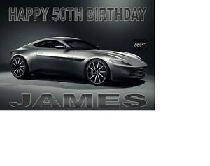 aston martin db james bond car  spectra birthday card, Birthday card