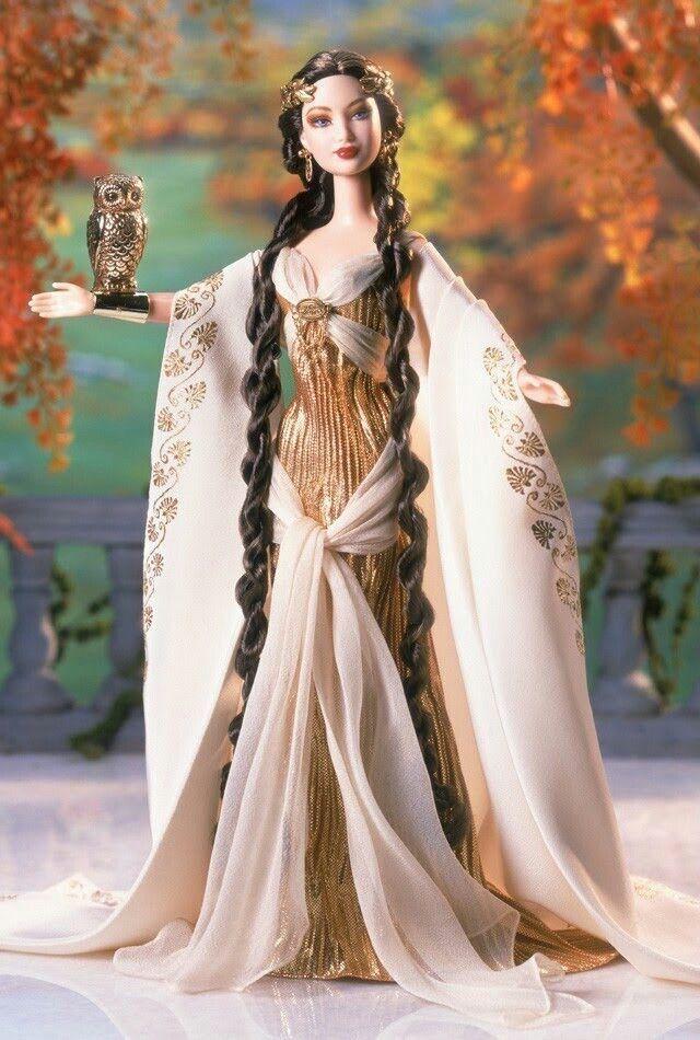 Diosa de la Sabiduría Griega Colector Muñeca Barbie De Colección Clásica Nuevo en Caja Original Nuevo En Caja