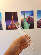 B FRIDAY 1 x Large glass test tubes 200 x 30mm borosilicate, rim, Cork stoppers