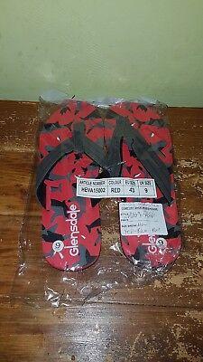 A Buon Mercato Uk9 Eu43 Da Uomo Glensdale Infradito Rosso Sandali Catalogo Di Ritorno-mostra Il Titolo Originale Con Metodi Tradizionali