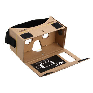 Details About Google Cardboard Headset 3d Virtual Reality Vr Goggles For Android Iphone Ios Uk