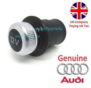 Genuine-Audi-12v-Cigarette-Lighter-Outlet-Socket-Cap-Plug-Cover-Dummy-Volkswagen