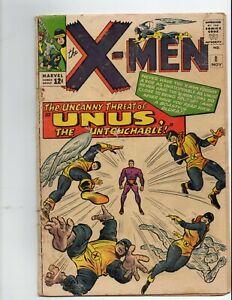 X-Men-8-NICE-SHAPE-UNUS-Marvel-Comics-1964-xmen-x-men-8