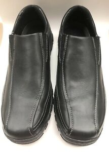 902803d4024a8 Details about Mens Capital by Rockport Black Leather Casual Slip On Shoes  Loafer Size 10.5