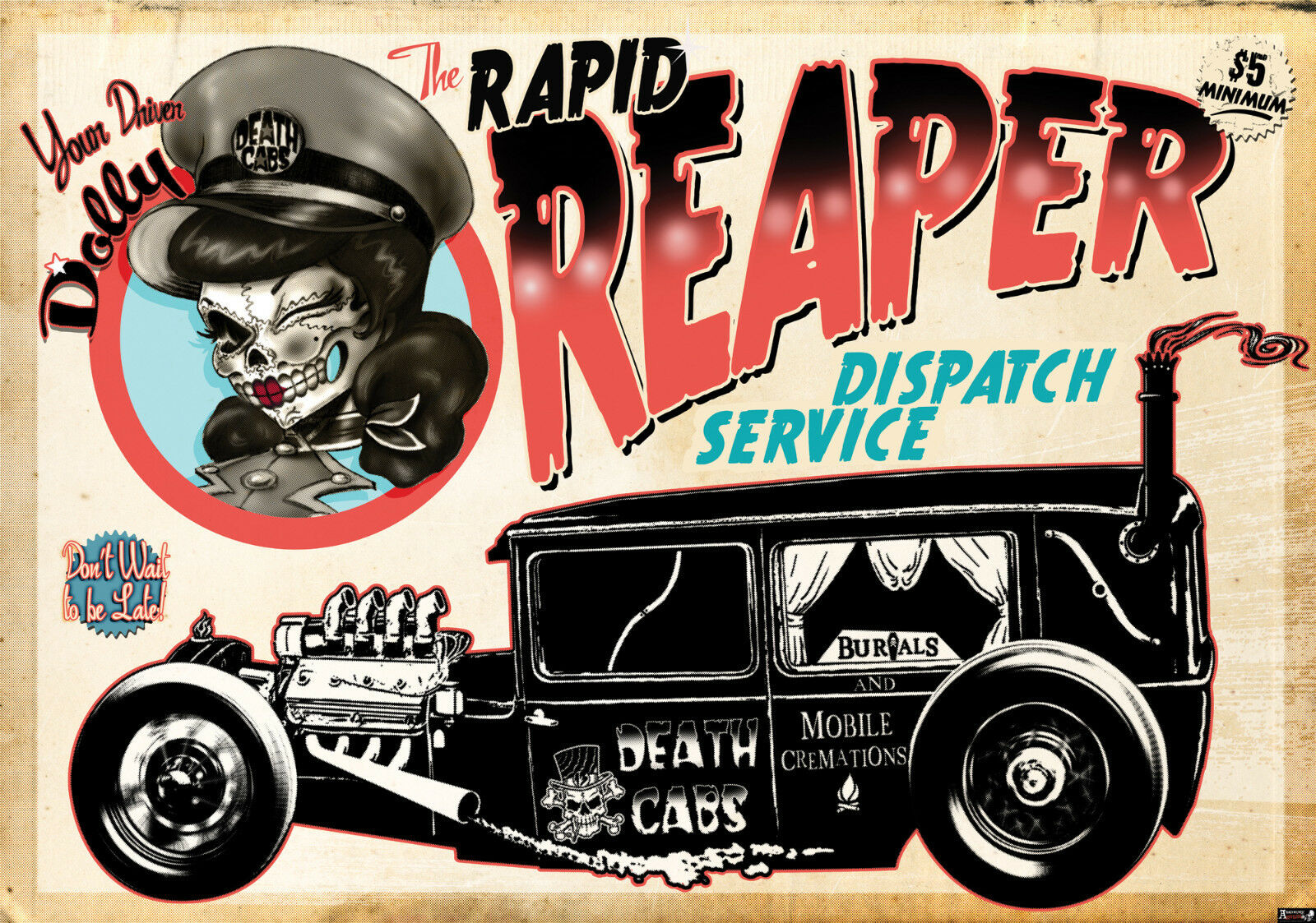 VLIES Fototapete-GOTHIC ALCHEMY-(2328)-Reaper Death Cab Cutie Schädel Metal xxl