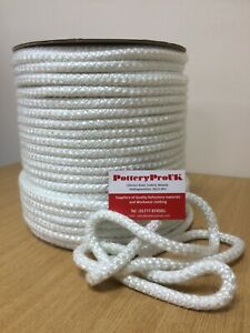 10mm WHITE STOVE ROPE – QUALITY GLASS FIBRE ROPE SEAL LAGGING WOOD BURNER OVEN