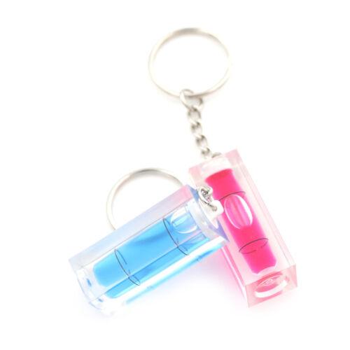 Mini Acrylic Spirit Level Key Ring Key Chain Tool Gadget Novelty Gift CYN