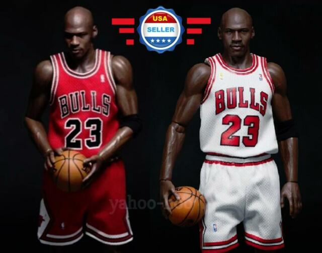 low priced 662f0 a9820 Custom 1/6 scale Michael Jordan Chicago Bulls Jersey 23 For Enterbay Figure