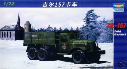 Trumpeter - Ruso Camión ZIL-157 - 1:72 Modelo Equipo de Construcción Nuevo Punta