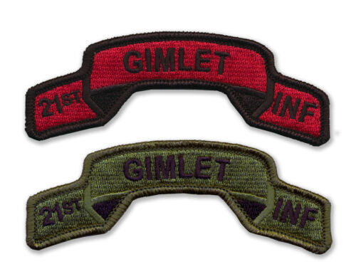 21st Infantry Regiment Embroidered Tabs GIMLETS WWII Vietnam OIF OEF