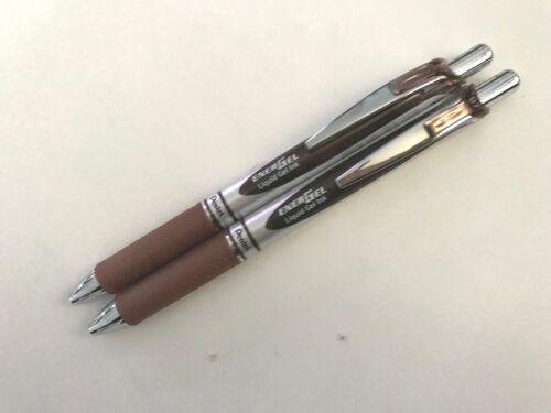 12 pcs x Pentel Energel 0.7mm Retractable Gel Pen BROWN ink BL77