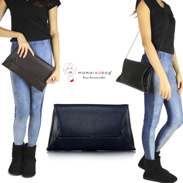 Borsa Donna a Tracolla Pochette Busta Patta Envelope Clutch Women Crossbody Bag