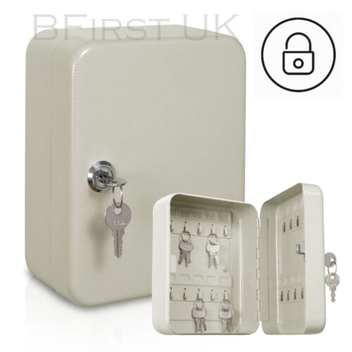 20 Key Cabinet Hook Lockable Security Home Office Wall Mounted Safe Storage Box