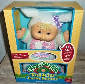 1993 HASBRO CABBAGE PATCH KIDS TALKIN' FARM BABIES LAMB DOLL 30 cm