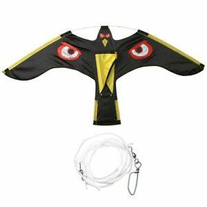 Black Flying Hawk Kite Bird Scarer For Garden Scarecrow Yard House Home Decor Bi