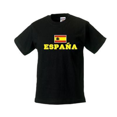 100% Vero Bambini T-shirt Spagna (espana), Flagshirt, Paesi Shirt (wms02-60f)-mostra Il Titolo Originale Rendere Le Cose Convenienti Per Le Persone