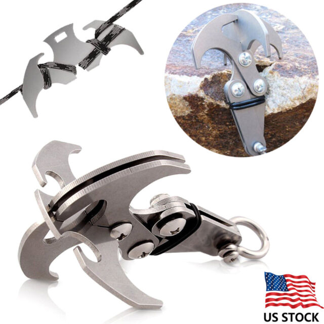 Survival Grappling Stainless Steel Hook Rock Climbing Claw Carabine Outdoor A2B1