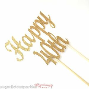 Happy-40th-Gold-Glitter-Cake-Topper-Forty-Birthday-Party-40-Topper-Decoration