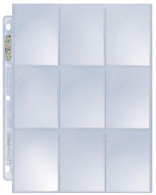 75 Ultra PRO Platinum 9-Pocket Hologram Card Album Pages//Binder Sheets