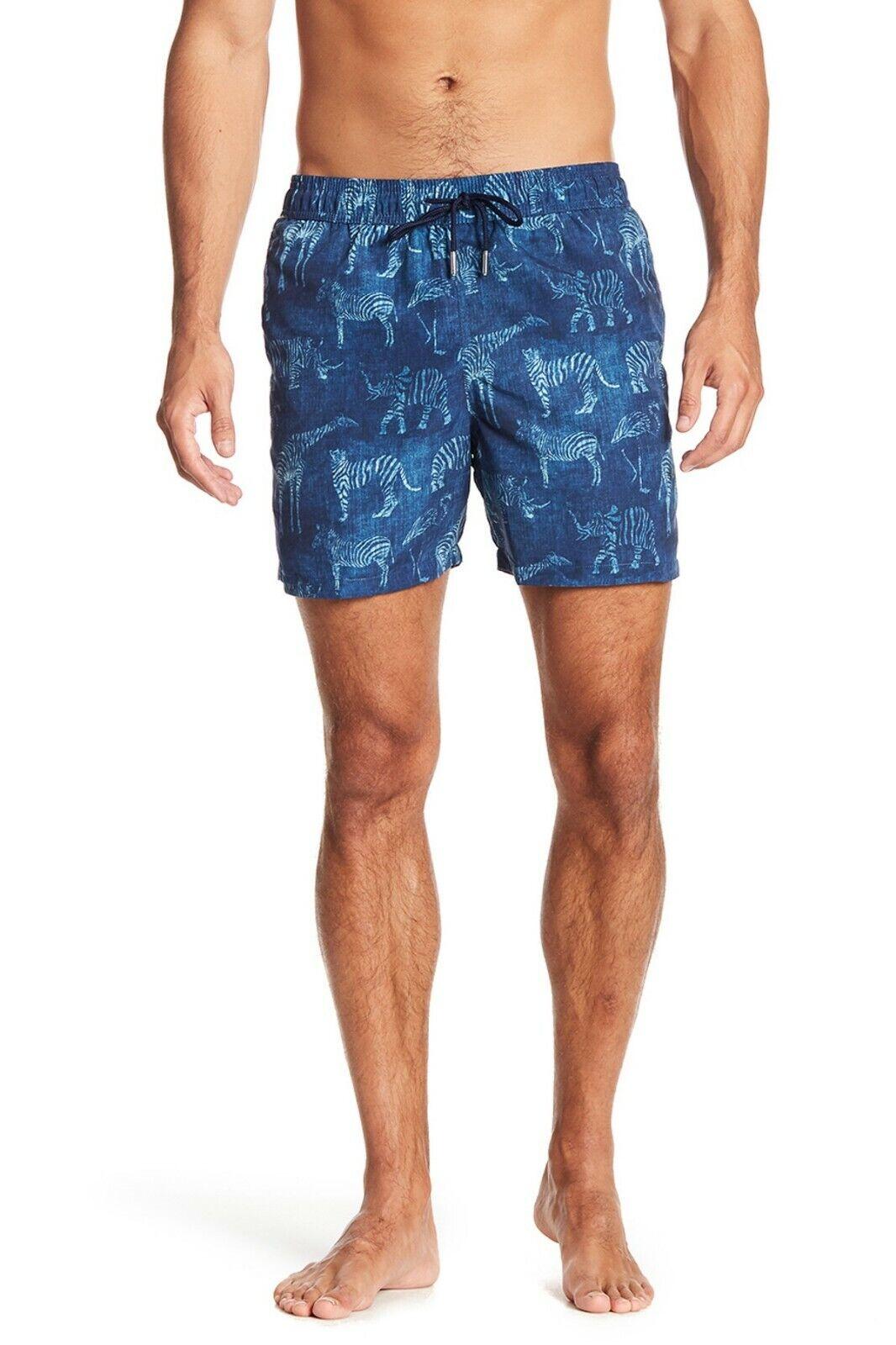 174b08ead9739 Jared Lang Men's Navy bluee Elephant Swim Trunks Print Animal ...