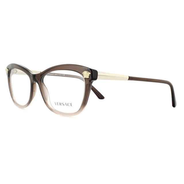 b0276e6006 Versace 0ve3224 Eyeglasses Brown Transplilac TRANSP 5165 Size 54mm ...