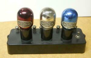 Rare-1923-Sonatron-3-Tube-Power-Amplifier-Red-Mx30-Blue-Mx6-White-Mx20
