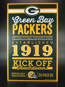 Green-Bay-Packers-Holzschild-43-cm-NFL-Football-Established-Wood-Sign
