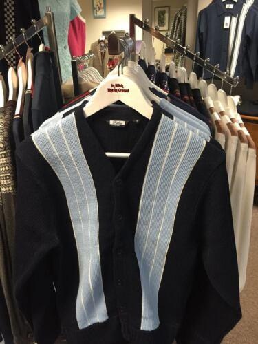 Made maglia in blu England blu Sky Navy Cardigan a righe S in Cardigan maglia 2xl In UPTqwRBqx