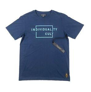 Cult-Of-Individuality-Short-Sleeve-Crewneck-Logo-Mens-Medium-Blue-T-Shirt-Tee