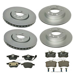 2006 2007 2008 for Volkswagen Beetle 288mm Rotor Brake Rotors and Pads F+R