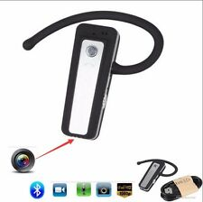 1080P HD Mini Hidden Bluetooth Headset Camera Wearable Video Recorder Cam DVR