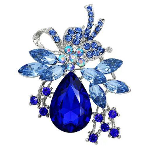 Ramo de Boda Diamante Broche Pin Flor Nupcial Cristal Broche Diamantes De Imitación