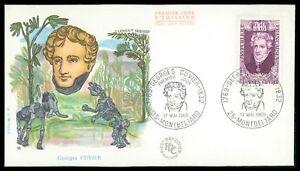FRANCE-FDC-1969-CUVIER-PALEONTOLOGY-FOSSIL-DINOSAUR-DINOSAURS-PREHISTORIC-cn26